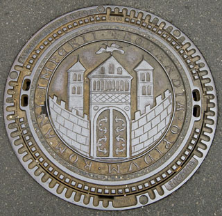 Boppard Manhole Cover, Style 1