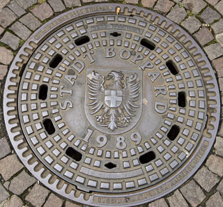 Boppard Manhole Cover, Style 2