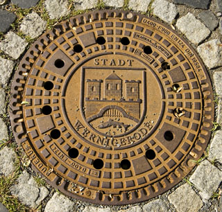 Wernigerode Manhole Cover, Style 1