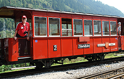 Crimson Star rides the Zillertalbahn, in Austria.
